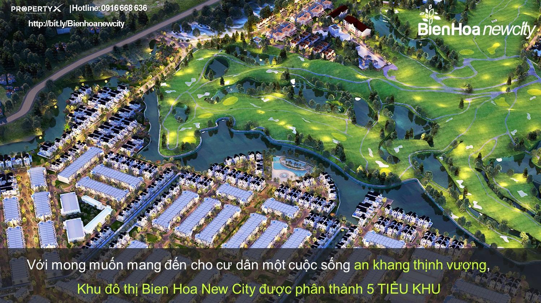 Dự án đất nền sổ đỏ Bien Hoa New City sân Golf Long Thành